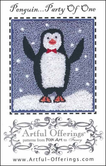 Artful Offerings PENGUIN PARTY Of ONE Punch Needle Pattern