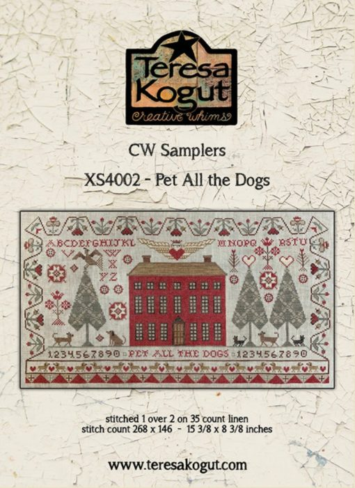 Teresa Kogut PET ALL The DOGS Cross Stitch Pattern