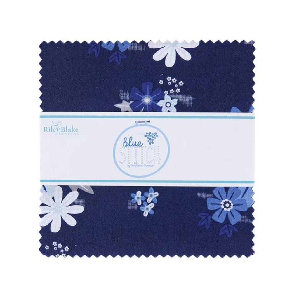Riley Blake Blue Stitch 5 Inch Stacker - Anabella's