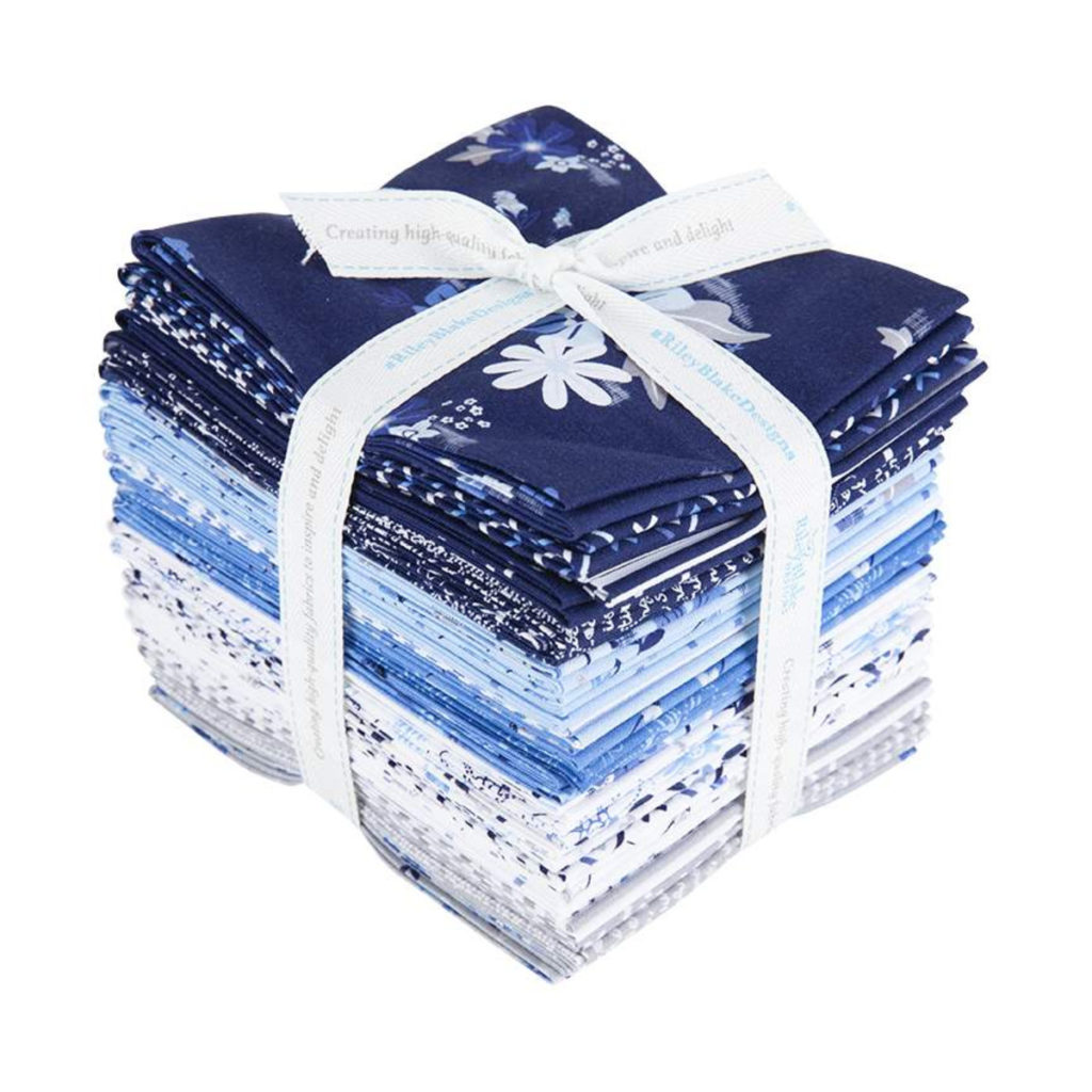 Riley Blake BLUE STITCH FAT QUARTER BUNDLE