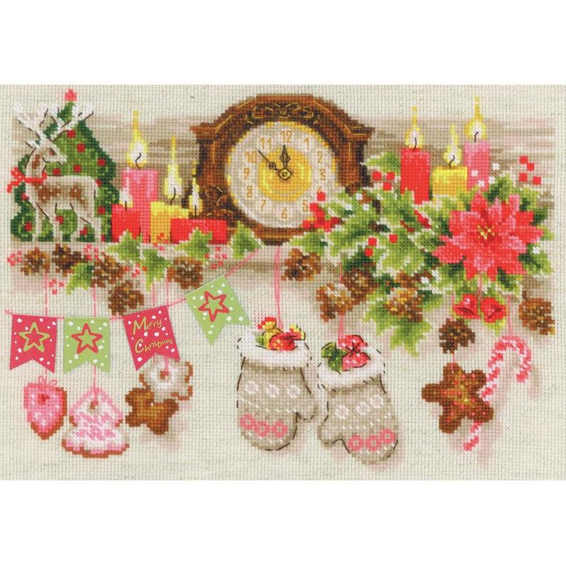 Riolis CHRISTMAS SHELF Cross Stitch Kit - NEW Cross Stitch Kit