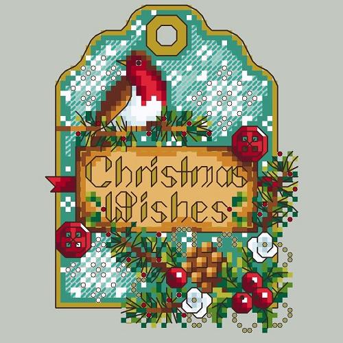 Shannon Christine ROBIN GIFT TAG Cross Stitch Pattern