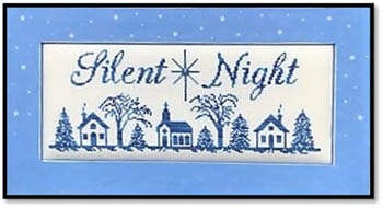 Kay's Frames & Designs SILENT NIGHT (with 1 Crystal) Cross Stitch Pattern