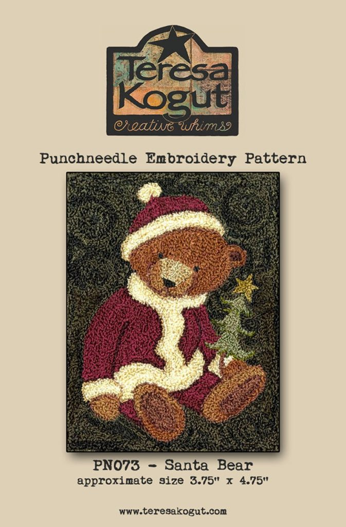 Teresa Kogut Punch Needle SANTA BEAR
