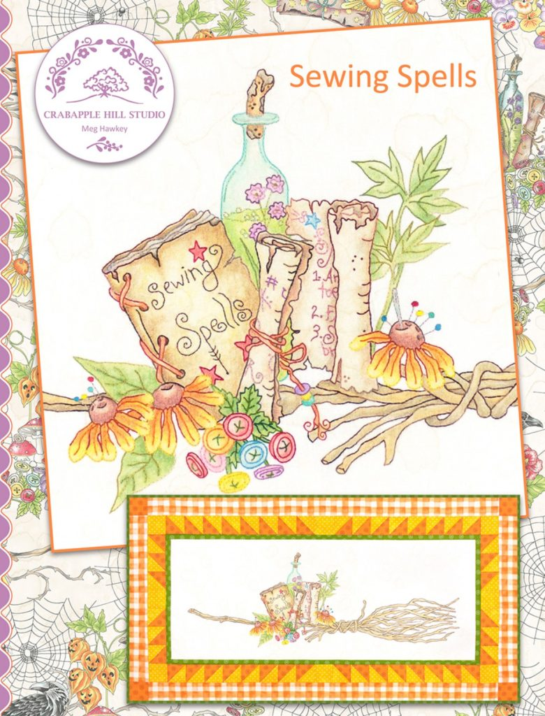Crabapple Hill Studio SEWING SPELLS Hand Embroidery Pattern