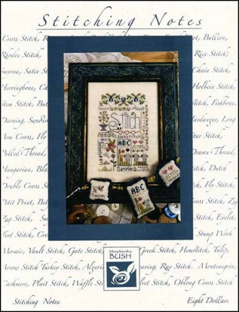 Shepherd's Bush STITCHING NOTES Cross Stitch Pattern