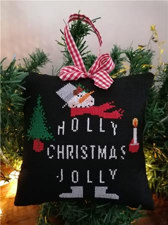 Twin Peak Primitives Holly Jolly CHRISTMAS SERIES SNOWMAN Cross Stitch Pattern