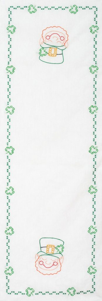 Jack Dempsey ST. PATRICK'S Day Table Runner Stamped Cross Stitch