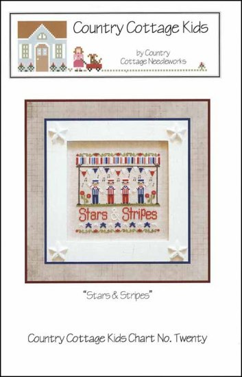 Country Cottage Needleworks STARS & STRIPES Cross Stitch Pattern
