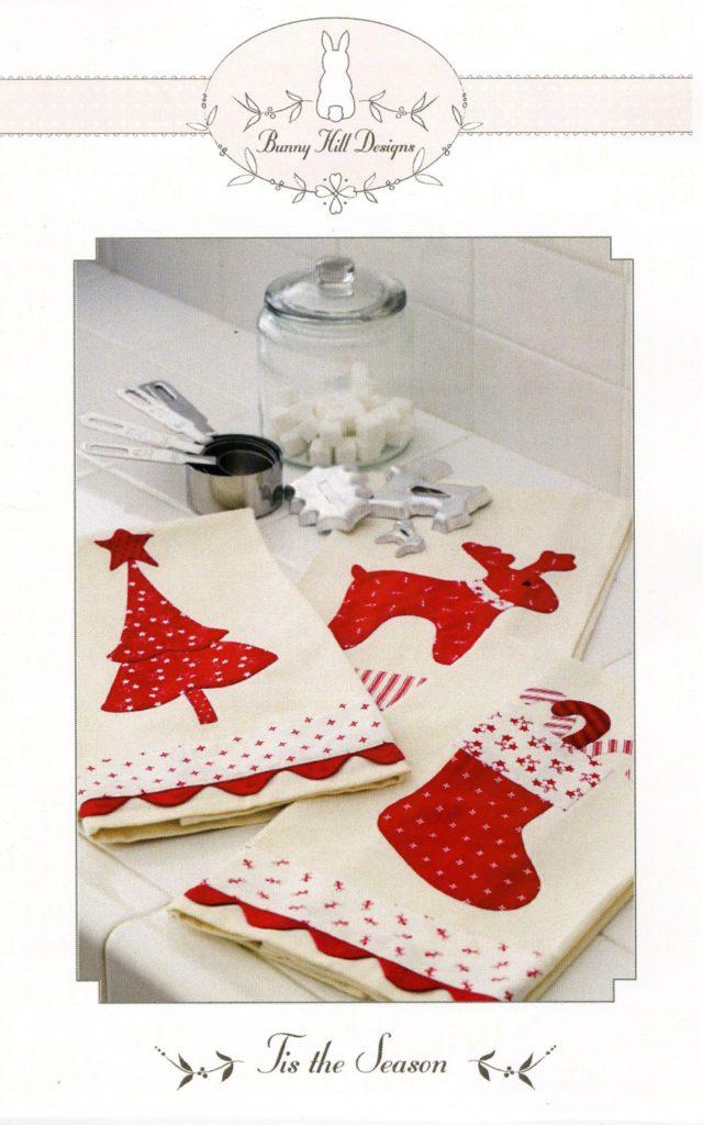 Bunny Hill Designs TIS THE SEASON Tea Towels - Applique Tea Towels