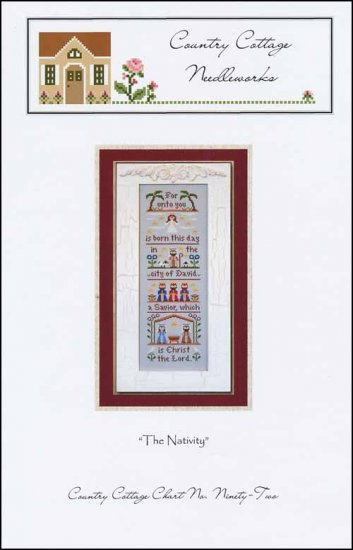 Country Cottage Needleworks THE NATIVITY Cross Stitch Pattern