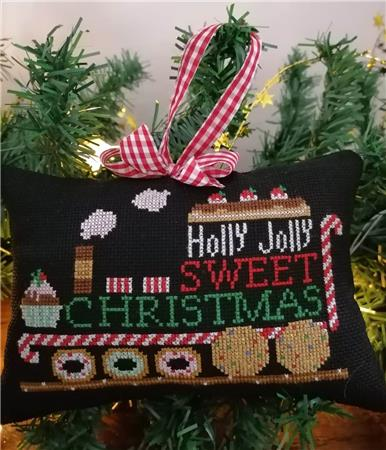 Twin Peak Primitives Holly Jolly CHRISTMAS SERIES TRAIN Cross Stitch Pattern