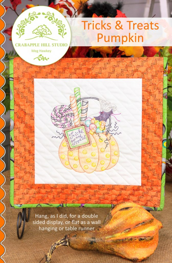 Crabapple Hill Studio TRICKS & TREATS PUMPKIN Hand Embroidery Pattern