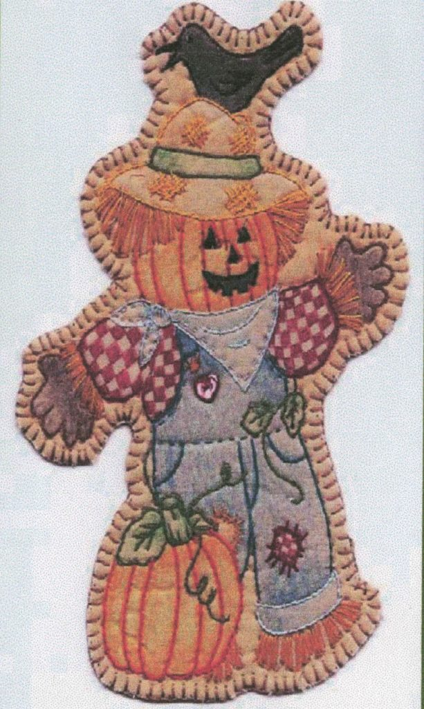 Chickadee Hollow Designs Vintage AUTUMN SCARE E CROW Hand Embroidery Pattern