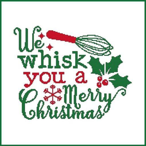 Cross Stitch Wonders WE WHISK YOU A Merry Christmas Cross Stitch Pattern