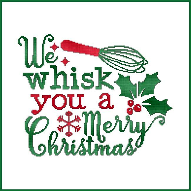 Cross Stitch Wonders WE WHISK YOU A Merry Christmas Cross Stitch Pattern
