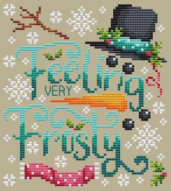 Shannon Christine FROSTY Cross Stitch Pattern