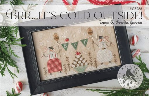 With Thy Needle & Thread Brr... IT'S COLD OUTSIDE! Cross Stitch Pattern