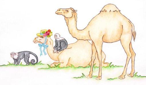Crabapple Hill Studio NOAH'S JOURNEY #4 Camels & Monkeys Hand Embroidery Pattern