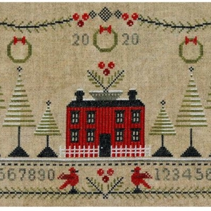 Artful Offerings CRANBERRY CHRISTMAS Sampler Cross Stitch Pattern