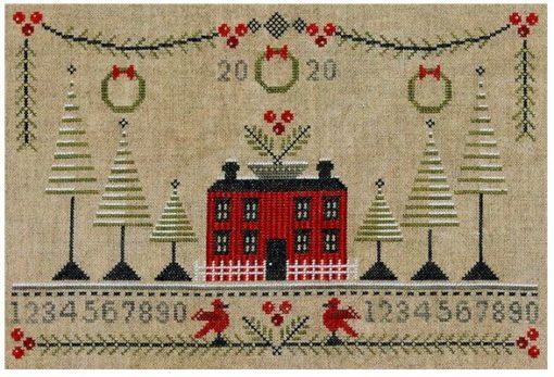 Artful Offerings CRANBERRY CHRISTMAS Sampler Cross Stitch Pattern
