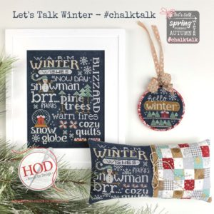 Let's Talk Winter Cross Stitch Pattern by Hands in Design