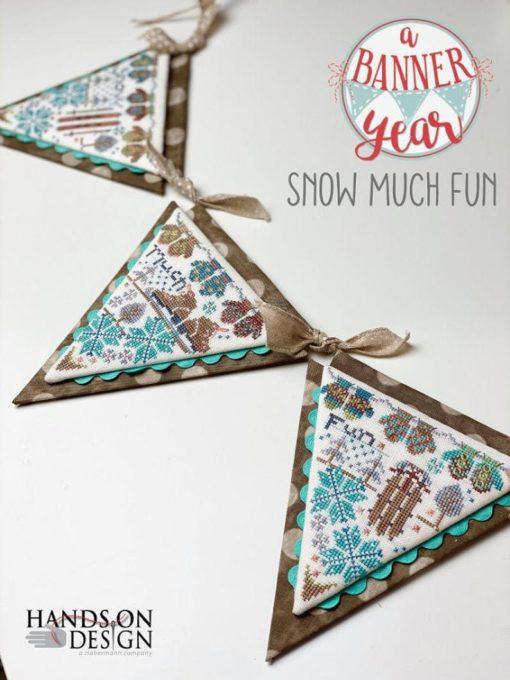 Hands on Design SNOW MUCH FUN Cross Stitch Pattern