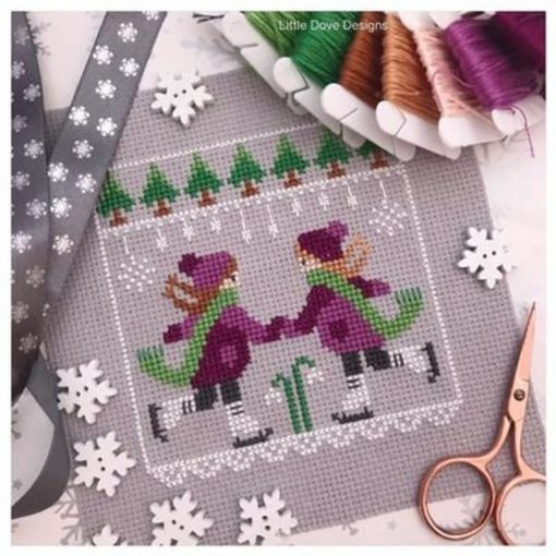 Little Dove Designs SKATER GIRLS Cross Stitch Pattern