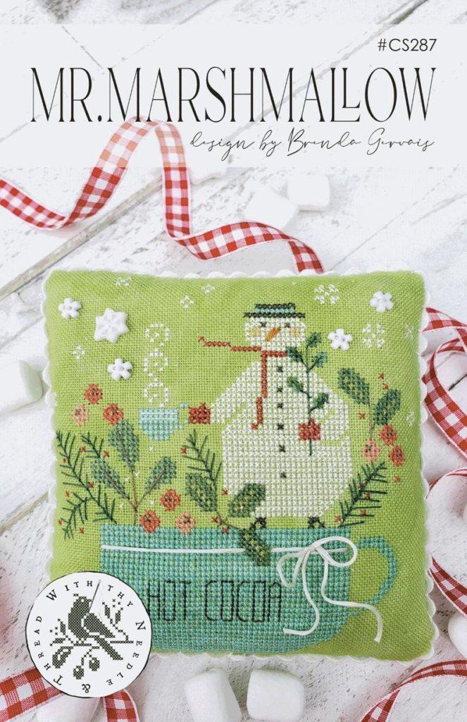 With Thy Needle & Thread MR. MARSHMALLOW Cross Stitch Pattern