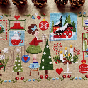 Lilli Violette NATALE E Cross Stitch Pattern
