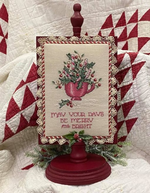 Sue Hillis Designs PEPPERMINT & HOLLY Cross Stitch Pattern