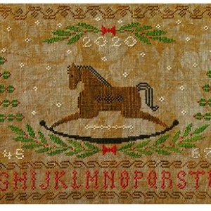 Artful Offerings ROCKING HORSE HOLIDAY Sampler Cross Stitch Pattern