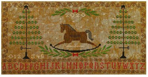 Artful Offerings ROCKING HORSE HOLIDAY Sampler Cross Stitch Pattern
