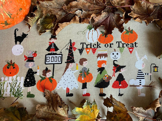 Lilli Violette TRICK OR TREAT Cross Stitch Pattern