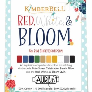 Kimberbell for Maywood Studio RED WHITE & BLOOM AURIFUL Thread – Pre-Order!