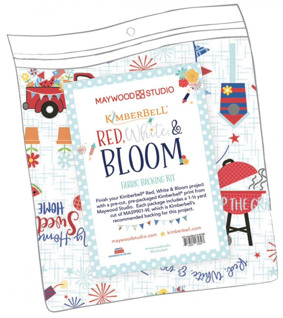 Red White and Bloom Backing Kit