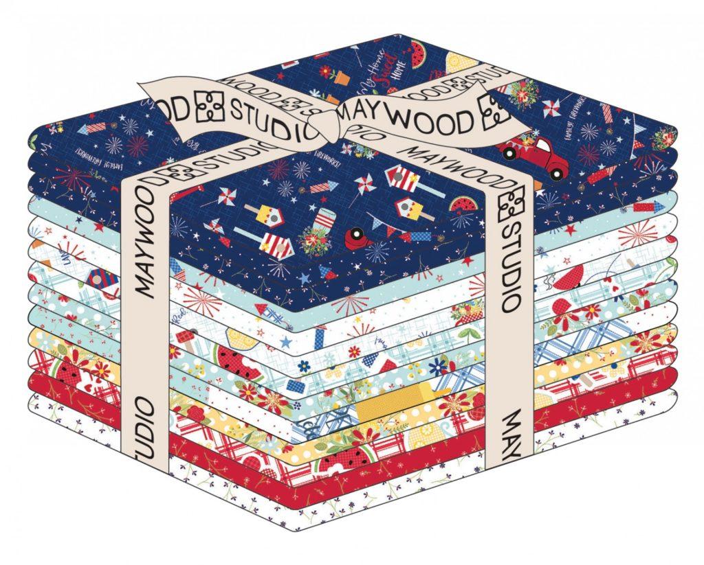 Kimberbell for Maywood Studio RED WHITE & BlOOM FAT Quarter
