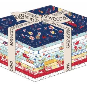 Kimberbell for Maywood Studio RED WHITE & BlOOM FAT Quarter – Pre-Order!