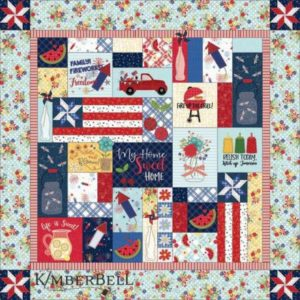 NEW Kimberbell Designs RED, WHITE & BLOOM QUILT PATTERN – SEWING VERSION – PRE-ORDER