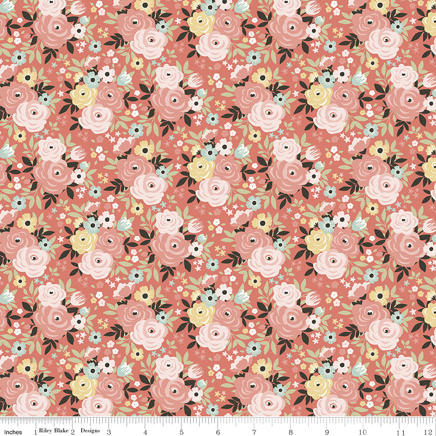 Joy in the Journey FLORAL CORAL by Riley Blake Designs