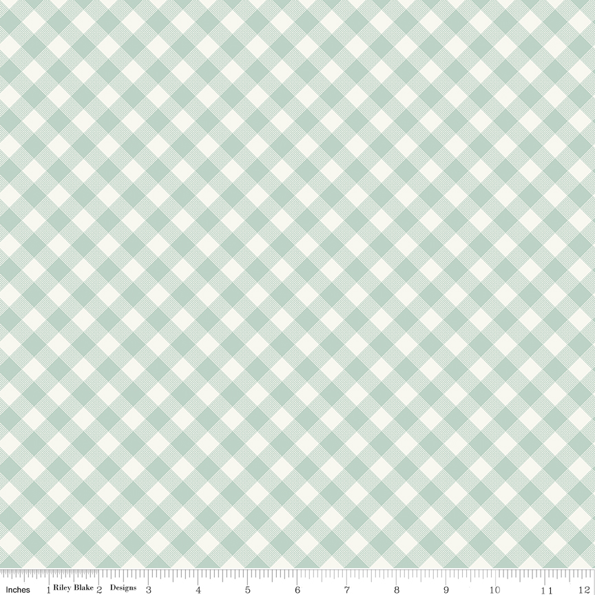 Joy in the Journey PLAID MINT by Riley Blake Designs