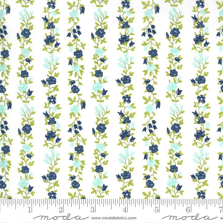 Sunday Stroll by Bonnie & Camille for Moda Fabrics - Cream Floral Vine Yardage