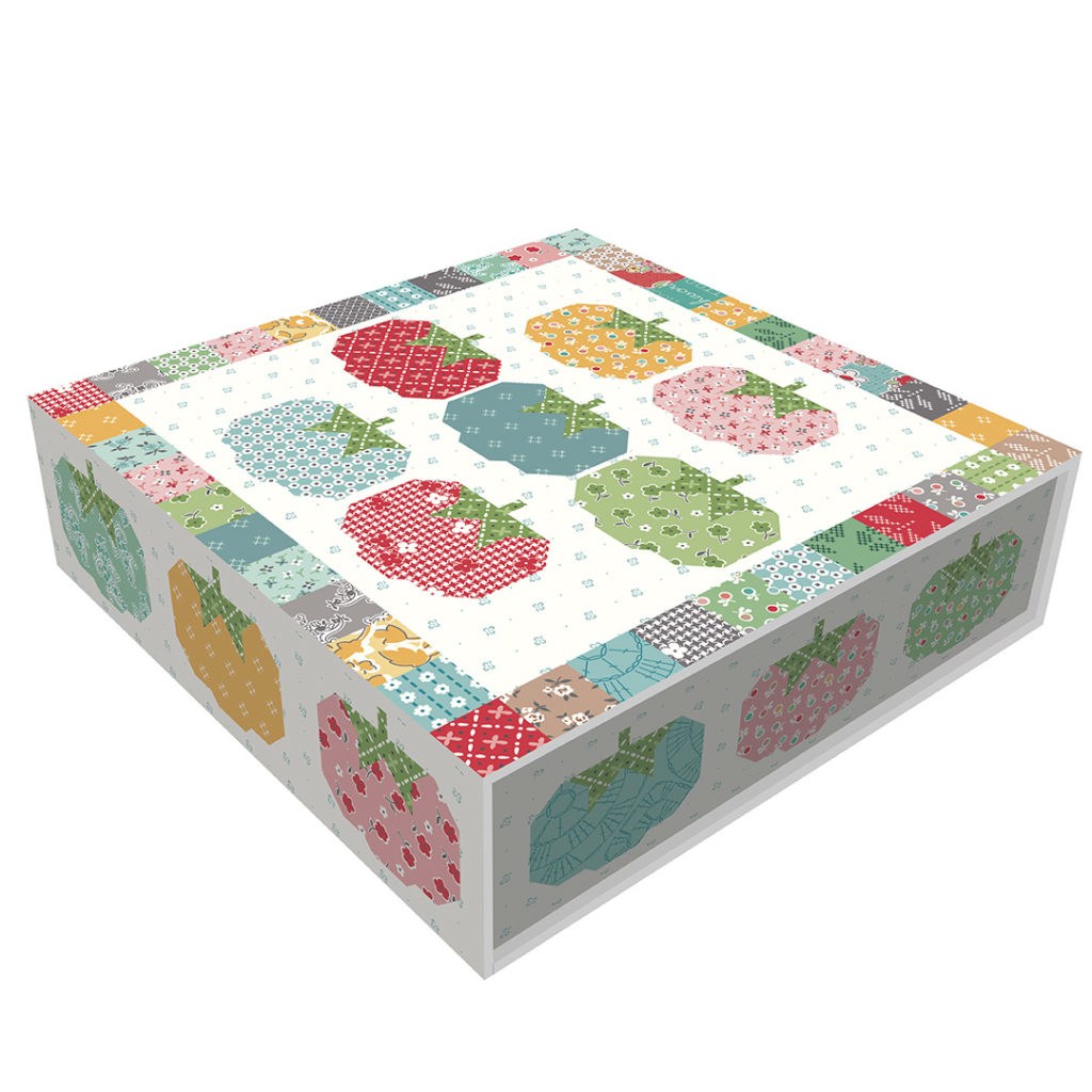 Lori Holt of Bee in My Bonnet Stitch Tomato Pin Cushion Quilt Kit - Riley Blake Designs