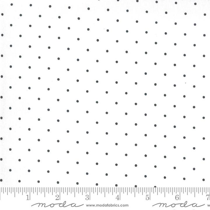 Sunday Stroll by Bonnie & Camille for Moda Fabrics - Navy Dots on White Yardage