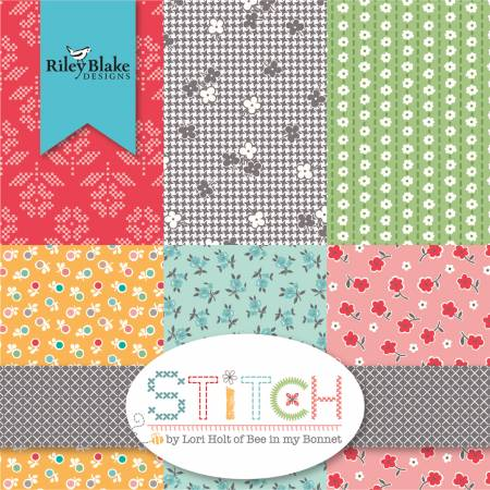 Lori Holt of Bee in My Bonnet STITCH FAT QUARTER BUNDLE - Riley Blake Designs